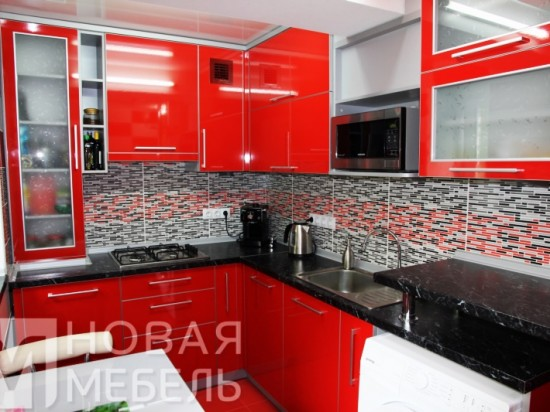 Кухня из пластика 39