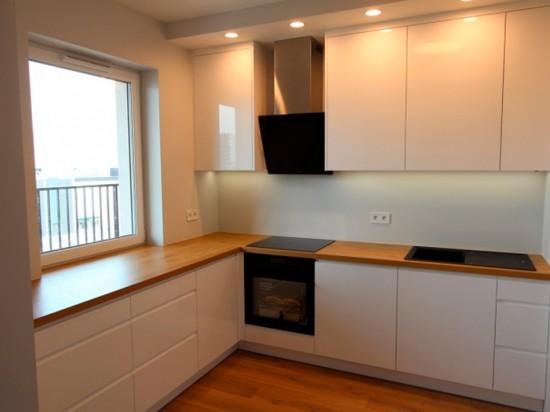 Кухня угловая эмаль белая угловая 79